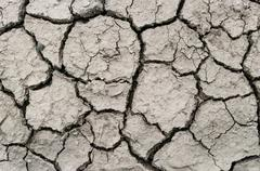 A area of dry land for a drought concept or metaphor. Stock Photos