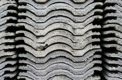 Stock Photo of stack of roofing tiles. texture.