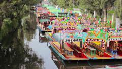 Mexico DF Xochimilco - stock footage