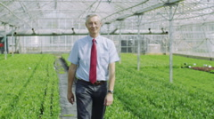 Business manager in agriculture and science industry - stock footage