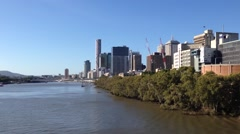Brisbane skyline, Australia Stock Footage