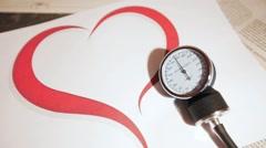 Sphygmomanometer, blood pressure, prevention 25fps Stock Footage
