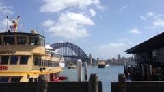 Ferries in Sydney harbour, Australia Stock Footage