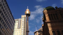 Sydney tower downtown Sydney, Australia Stock Footage