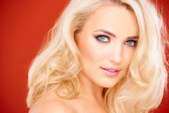 Stunning sensual blond woman - stock photo