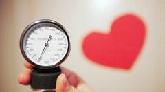 Sphygmomanometer, blood pressure, 25fps Stock Footage
