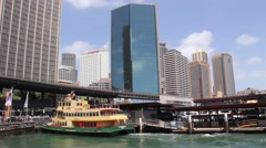 Sydney harbour with ferries in Australia Stock Footage