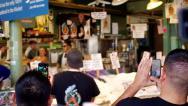 Stock Video Footage of Seattle Public Market fish toss