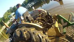 Tractor Closeup and Wide Stock Footage