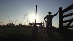 COWBOY RANCHER and ranch hand Stock Footage
