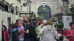 Busy English Market During The Summer Stock Footage