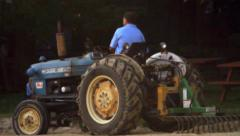 Tractor on a Beach 6 Stock Footage