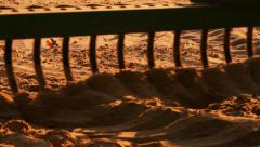 Tractor on a Beach 4 Stock Footage