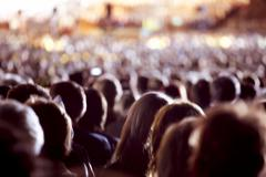 large crowd of people - stock photo