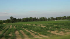 Driving on a country road Stock Footage