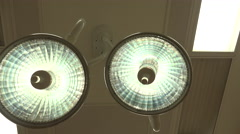 4K Patient POV Examination Under Bright Medical Lights - stock footage