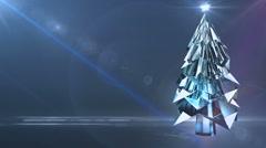 crystal christmas tree - stock footage