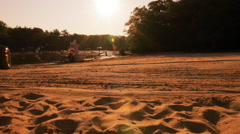 Tractor on a Beach 2 Stock Footage