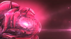 magenta crystal rose rotating - stock footage