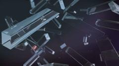 crystal rectagle rotating - stock footage