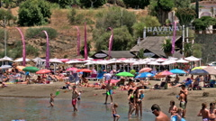 Cristo beach & chiringuito Havana, Estepona , Spain Stock Footage