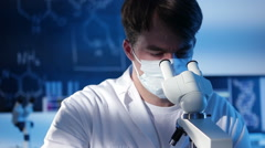 Lab Experiment Stock Footage
