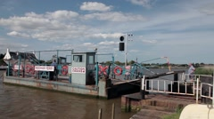 Reedham Ferry on the Norfolk Broads Stock Footage