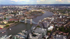 The fantastic city of London from above aerial shot - stock footage