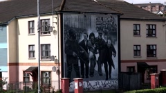 Derry nationalist Bogside, Northern Ireland Stock Footage