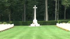 The Arnhem Oosterbeek War Cemetery, Oosterbeek, the Netherlands. Stock Footage