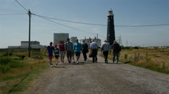 The Old Lighthouse, Dungeness, Kent, England Stock Footage