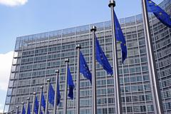 European Commission in Brussels. Stock Photos