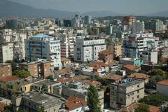 Tirana, Panorama City , Albania - stock photo