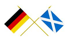flags, germany and scotland - stock illustration