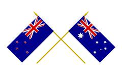 Stock Illustration of flags, australia and new zealand