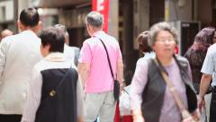 People walking through Asakusa district in Tokyo, Japan. Stock Footage