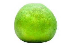 Green pomelo fruit in white background. Stock Photos