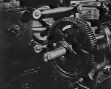 Car factory in 1920s Stock Footage