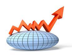 Stock Illustration of global economic chart