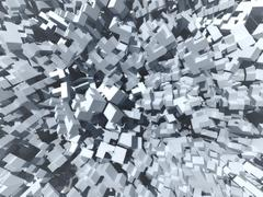 Stock Illustration of abstract cubes background