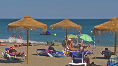 La Rada beach, Estepona Stock Footage