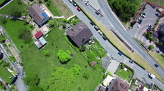 Swiss Village - aerial - stock footage