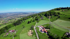 Switzerland Country side - aerial Stock Footage