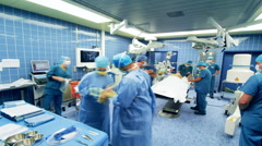 Timelapse Hospital Surgery team Stock Footage