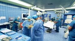 Timelapse Hospital Surgery team - stock footage