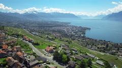 Swizerland Lake - aerial Stock Footage