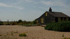 Derek Jarmen House Dungeness at Dungeness, Kent, England Stock Footage