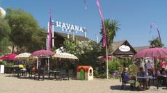 Chiringuito Havana Beach  Stock Footage