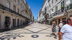 Augusta street in the downtown district of lisbon Stock Footage