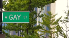 Gay Street Sign Stock Footage